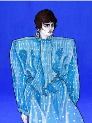 Ambachtelijke mode-illustratie nog steeds springlevend