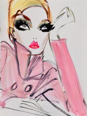 Astrid X Vos, mode-illustratie