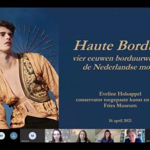 Screenshot online ledenpresentatie Haute Bordure